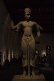 Le Musée National Bangkok, vieux Bouddha en pierre Images libres de droits