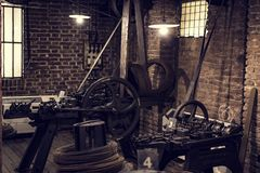 Le musée technique technologique baptisé du nom de Leonardo Da Vinci Department, eexposition est consacré au buil d'industrie lou photographie stock libre de droits