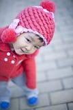 Nätt lite kinesisk flicka Arkivbild