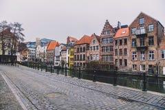 Le négociant Houses Facades de Gand Photo stock