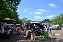 Le négociant thaïlandais se préparent et la boutique d'arrangement au voyageur de vente chez mars photos libres de droits