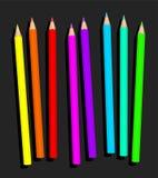 Le néon crayonne des crayons de barre de mise en valeur illustration de vecteur
