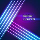 Le néon lumineux raye le fond Photos libres de droits