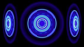 Le néon roule le fond, l'illustration 3d Images libres de droits