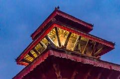 Le Népal coloré : les temples, les places et les pagodas de Katmandou ont construit dans les traditions commençant comme stupa As Photos stock