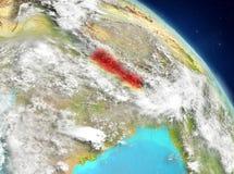 Le Népal de l'orbite Photo stock
