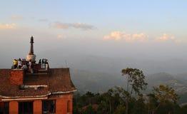 Le Népal. Le village de Nagarkot. photo libre de droits