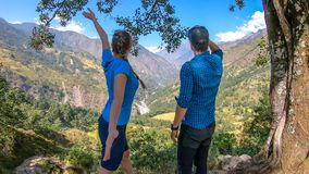 Le Népal - recherche d'Annapurna photos stock