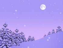 leśna snowfiake zima royalty ilustracja