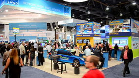 Le NAB montrent 2016 l'exposition, Las Vegas, Etats-Unis, banque de vidéos