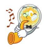 Le naengmyeon de trompette étant isolé avec dans le caractère illustration de vecteur
