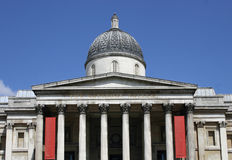 Le National Gallery - grand dos de Trafalgar - Londres photo stock