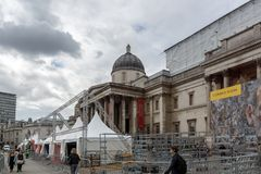 Le National Gallery sur Trafalgar Square, Londres, Angleterre, Royaume-Uni images libres de droits