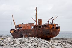 Le naufrage de PMV Plassy, Inisheer, Aran Islands, Irlande Photos libres de droits