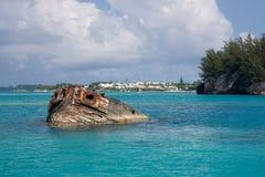 Le naufrage de Vixen, Bermudes Photo stock