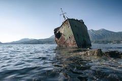 Le naufrage submergé Photo stock