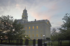 Le Nauvoo, temple de l'Illinois LDS Photographie stock libre de droits