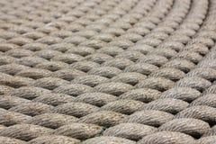 Le navi alte - una bobina della corda - dettagli Immagine Stock