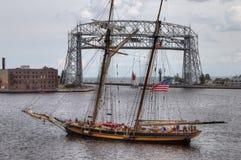 Le navi alte visita Duluth, Minnesota ogni tre anni immagine stock