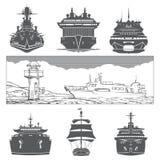 Le navi hanno messo il trasporto Fotografie Stock