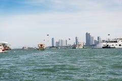 Le navi in mare Fotografia Stock