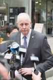 Le ` Neill, commissaire de James O de NYPD s'adresse à des journalistes Photo libre de droits