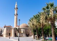 Le Neratze ou le Gazi Hussein Mosque dans Rethymno, île de Crète, Grèce Images libres de droits