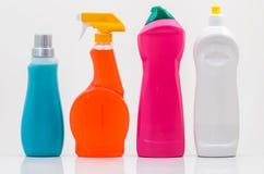 Le nettoyage de ménage met 01-Blank en bouteille Images stock