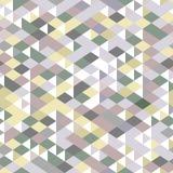 Le neutre a coloré des triangles modèle sans couture géométrique, vecteur Photos stock