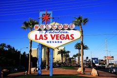 Le Nevada, accueil à ne jamais dormir ville Las Vegas Images libres de droits