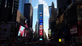 Le newyork de Timesquare allume des bâtiments de week-end Photographie stock libre de droits