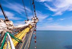Le nez du yacht, attirail du ` s de bateau images stock