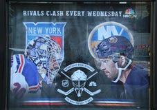 Le NHL font des emplettes décoration de fenêtres à Manhattan Photographie stock libre de droits