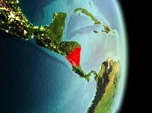 Le Nicaragua dans le matin de l'orbite Photo stock