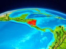 Le Nicaragua de l'orbite Photo libre de droits