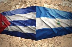 Le Nicaragua et le Cuba illustration stock