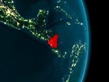 Le Nicaragua la nuit Image libre de droits
