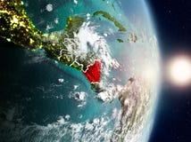 Le Nicaragua pendant le lever de soleil Images libres de droits