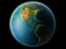 Le Nicaragua le soir Image libre de droits