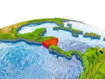 Le Nicaragua sur le modèle de la terre Photo stock