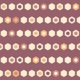 Le nid d'abeilles de vecteur perle le fond sans couture de modèle de rayures horizontales illustration libre de droits