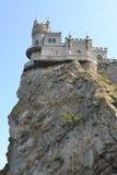 Le nid de l'hirondelle de château en Crimée Photographie stock libre de droits