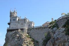 Le nid de l'hirondelle de château en Crimée Photographie stock