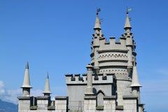 Le nid de l'hirondelle de château en Crimée Photo libre de droits