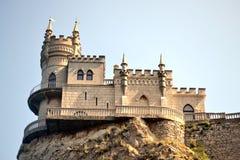 Le nid de l'hirondelle de château en Crimée Images libres de droits