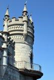 Le nid de l'hirondelle de château en Crimée Images stock