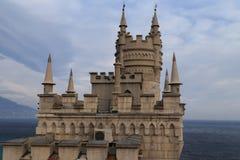 Le nid de l'hirondelle de château en Crimée Photo stock