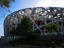 """Le nid de l'oiseau dans Pékin, Chine ! ɸŸå brillant de """"de çš de ½ de› d'ä¸å· de ¼ de ¢ï images stock"""
