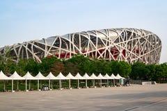 Le nid du ` s d'oiseau est un stade conçu pour l'usage dans tous les 2008 Jeux Olympiques d'été et Paralympics Photographie stock libre de droits