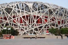 Le nid du ` s d'oiseau est un stade conçu pour l'usage dans tous les 2008 Jeux Olympiques d'été et Paralympics Photographie stock